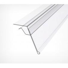 Ценникодержатель для крепления на стеклянные и другие тонкие полки