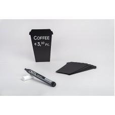 Меловые таблички COFFEE CUPS