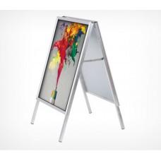 Штендер с рамами из алюминиевого клик-профиля