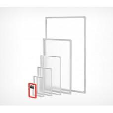 Пластиковая рамка с закругленными углами формата А6