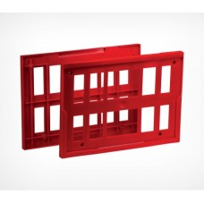 Комплект из 2-х пластиковых рамок на покупательскую тележку