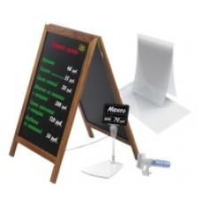 Вставки-протекторы, кассеты цен, грифельные таблички, а так же меловые маркеры