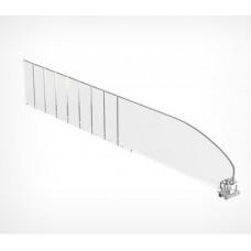 Пластиковый разделитель высотой 60 мм без ограничителя