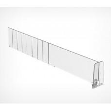 Пластиковый обламывающийся разделитель высотой 60 мм c передним ограничителем 60 мм