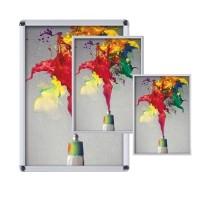 Рамы и рекламные стойки из алюминиевого клик-профиля