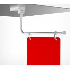Магнитный держатель вывески на крючках с изогнутой трубкой